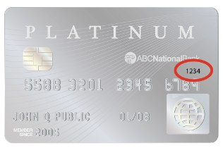 Credit Card Back